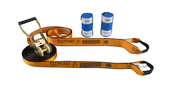 Elephant Slacklines Wing 3.5-Set 15m orange